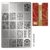 Moyra Stamping platňa - 15 Lacelove