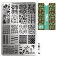 Moyra Stamping platňa - 21 Retro
